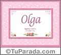 Olga, nombre, significado y origen de nombres