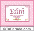 Significado y origen de Edith para imprimir