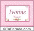 Ivonne, nombre, significado y origen de nombres