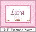 Lara, nombre, significado y origen de nombres