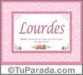 Significado y origen de Lourdes para imprimir