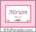 Significado y origen de Miriam para imprimir