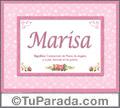 Marisa, nombre, significado y origen de nombres