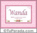 Wanda, nombre, significado y origen de nombres