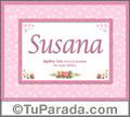 Susana, nombre, significado y origen de nombres