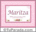 Maritza, nombre, significado y origen de nombres