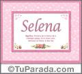 Significado y origen de Selena para imprimir