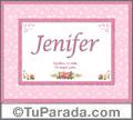 Significado y origen de Jenifer para imprimir