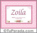 Significado y origen de Zoila para imprimir