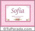 Sofia, nombre, significado y origen de nombres