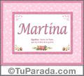 Significado y origen de Martina para imprimir