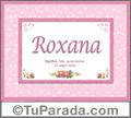 Significado y origen de Roxana para imprimir