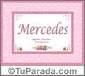 Mercedes, nombre, significado y origen de nombres