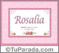 Significado y origen de Rosalía para imprimir