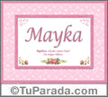 Mayka, nombre, significado y origen de nombres