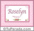 Nombre Tarjeta con imagen de Roselyn para feliz cumpleaños