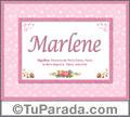 Significado y origen de Marlene para imprimir