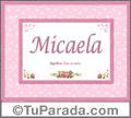 Micaela, nombre, significado y origen de nombres