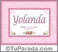 Yolanda, nombre, significado y origen de nombres