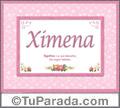 Ximena, nombre, significado y origen de nombres
