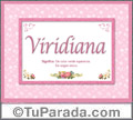 Viridiana, nombre, significado y origen de nombres