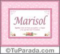 Marisol, nombre, significado y origen de nombres