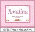 Significado y origen de Rosalina para imprimir