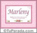 Marleny, nombre, significado y origen de nombres