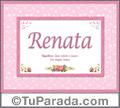 Significado y origen de Renata para imprimir
