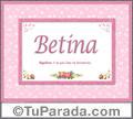 BetinaAzul, nombre, significado y origen de nombres