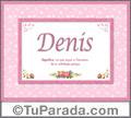 Significado y origen de Denis para imprimir