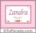Zandra, nombre, significado y origen de nombres