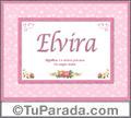 Elvira, nombre, significado y origen de nombres