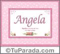 Significado y origen de Angela para imprimir
