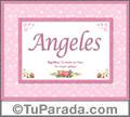 Angeles, nombre, significado y origen de nombres