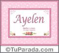 Significado y origen de Ayelen para imprimir
