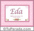 Eda, nombre, significado y origen de nombres