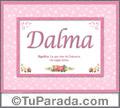 Dalma, nombre, significado y origen de nombres