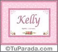 Nombre Tarjeta con imagen de Kelly para feliz cumpleaños