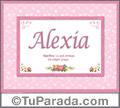 Alexia, nombre, significado y origen de nombres