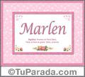Significado y origen de Marlen para imprimir