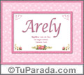 Arely, nombre, significado y origen de nombres