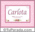 Carlota, nombre, significado y origen de nombres