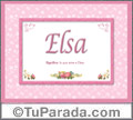 Elsa, nombre, significado y origen de nombres
