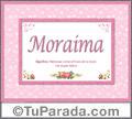 Moraima, nombre, significado y origen de nombres