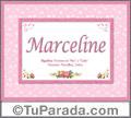 Marceline, nombre, significado y origen de nombres