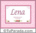 Lena, nombre, significado y origen de nombres