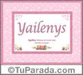 Yailenys, nombre, significado y origen de nombres