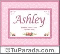 Ashley, nombre, significado y origen de nombres