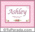 Significado y origen de Ashley   para imprimir